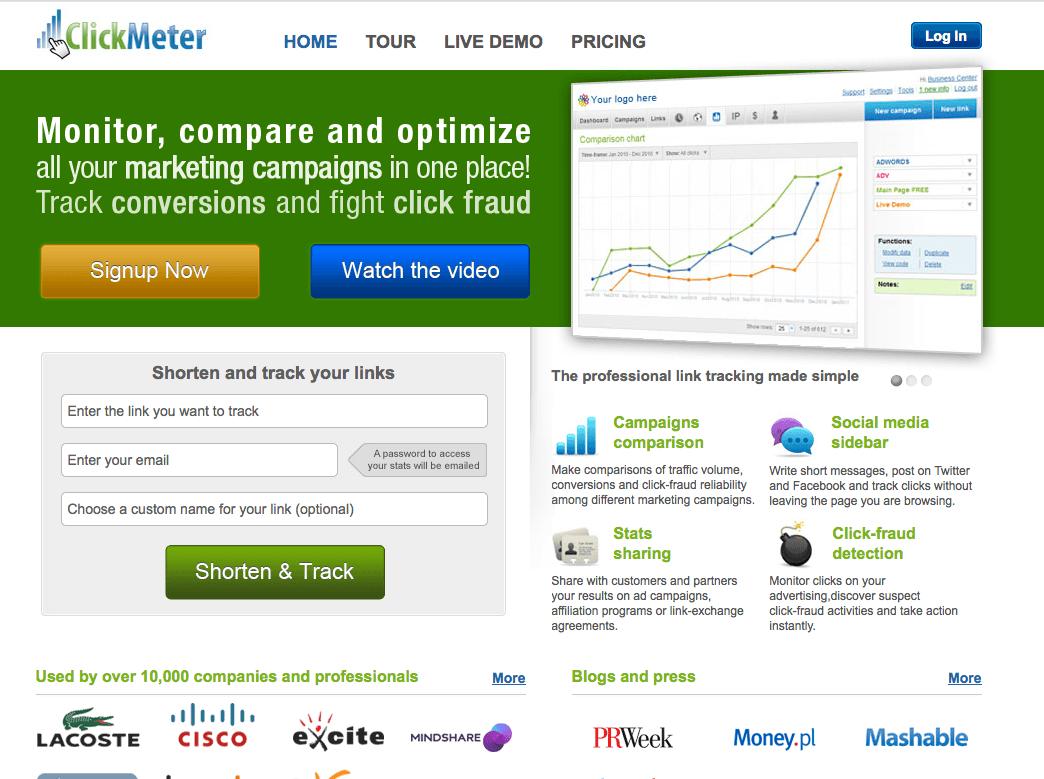 Monitoreo de links con ClickMeter